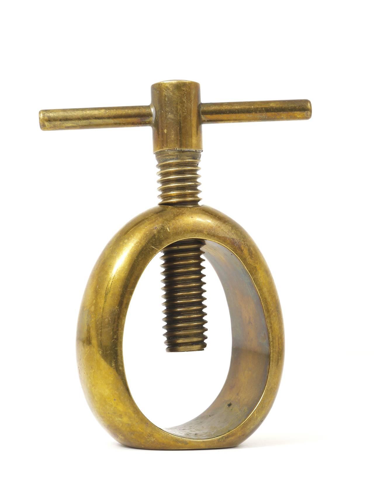Mid-Century Modern Carl Auböck Midcentury Brass Nut Cracker, Austria, 1950s For Sale