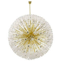 Magnificent Emil Stejnar Blowball Chandelier by Rupert Nikoll, Austria, 1950s