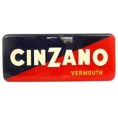 Vintage Cinzano Vermouth Illuminated Advertising Sign, Italy, 1950s