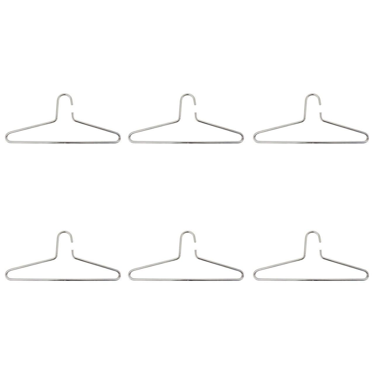 Set of Six Carl Auböck Chrome-Plated Hangers, Austria, 1970s