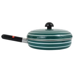 Cook with Carl Auböck Enameled Pan with Lid by Riess, Austria, 1970s