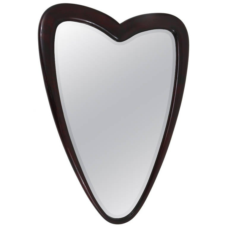 unusual heart shaped wall mirror italy 1940s at 1stdibs
