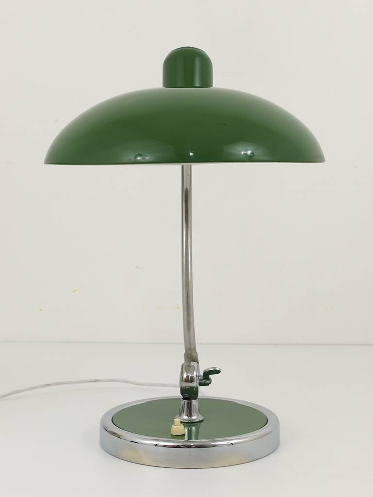 Green Christian Dell Bauhaus Desk Lamp For Kaiser Idell