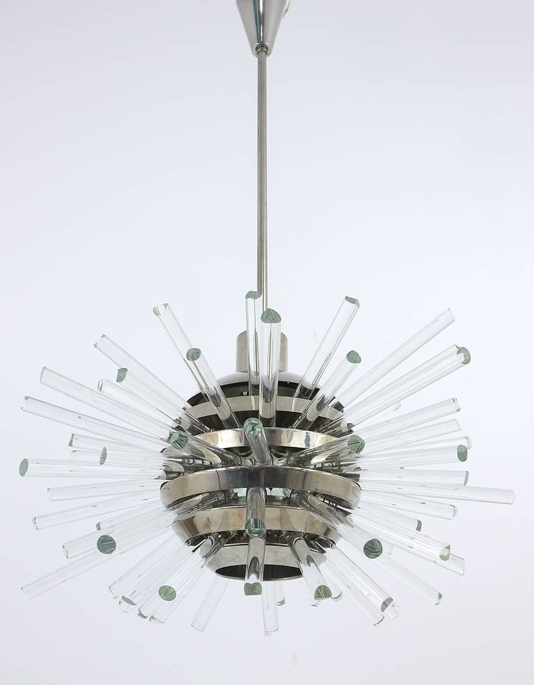 Bakalowits Miracle Sputnik Chandelier with Crystal Glass Rods, Austria, 1960s 3