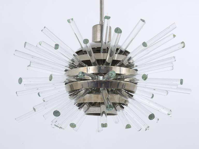 Bakalowits Miracle Sputnik Chandelier with Crystal Glass Rods, Austria, 1960s 4