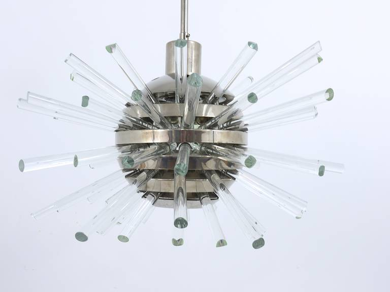 Bakalowits Miracle Sputnik Chandelier with Crystal Glass Rods, Austria, 1960s 5