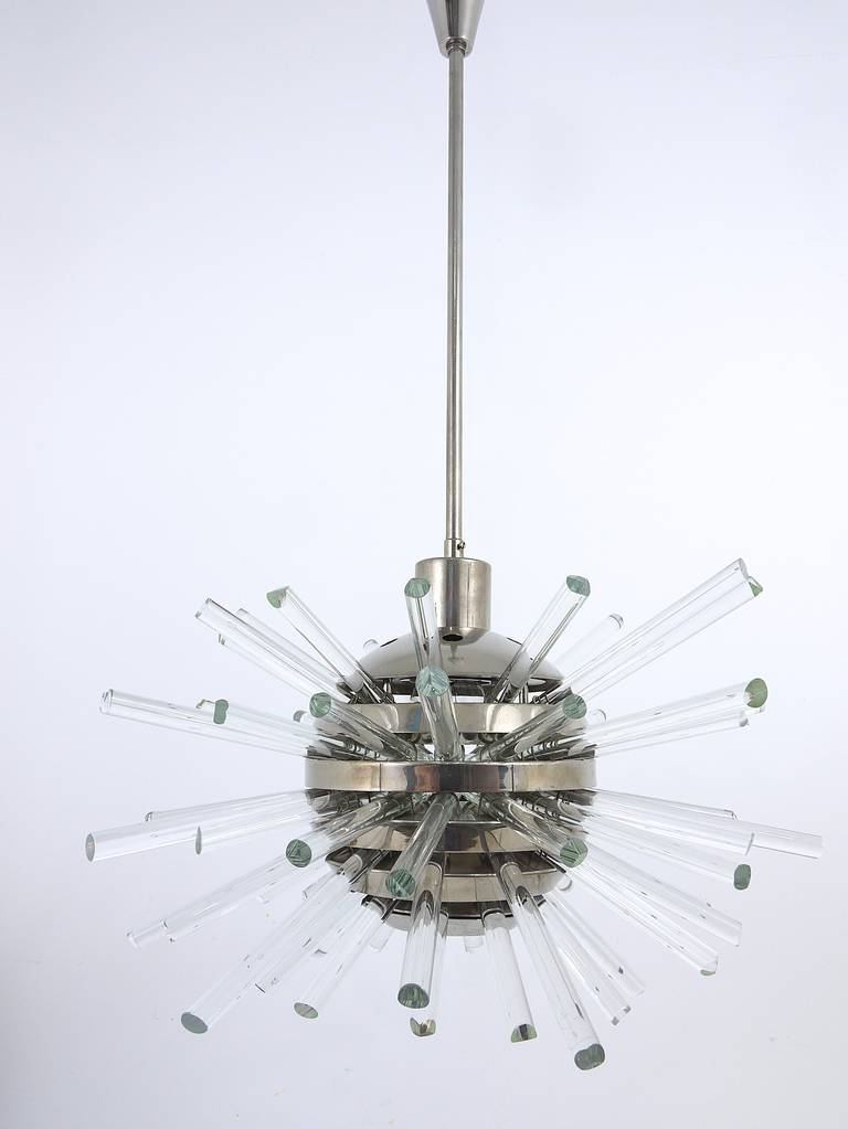 Bakalowits Miracle Sputnik Chandelier with Crystal Glass Rods, Austria, 1960s 6