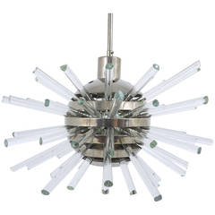 Bakalowits Miracle Sputnik Chandelier with Crystal Glass Rods, Austria, 1960s