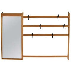Carl Auböck Coat Rack and Mirror Combination