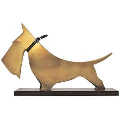 Carl Auböck Scotch Terrier Art Deco Sculpture from the 1920s