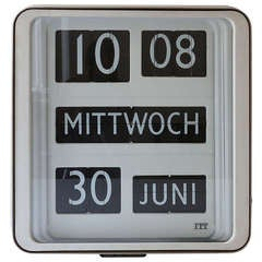 Big Solari Udine Dator 10 Airport Flip Clock by Gino Valle, Italy, 1960s