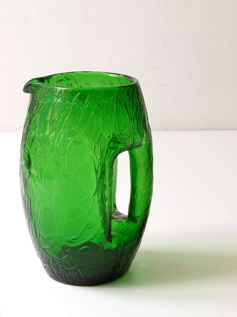Koloman Moser Art Nouveau Green Glass Pitcher By Loetz Around 1900 At 1stdibs