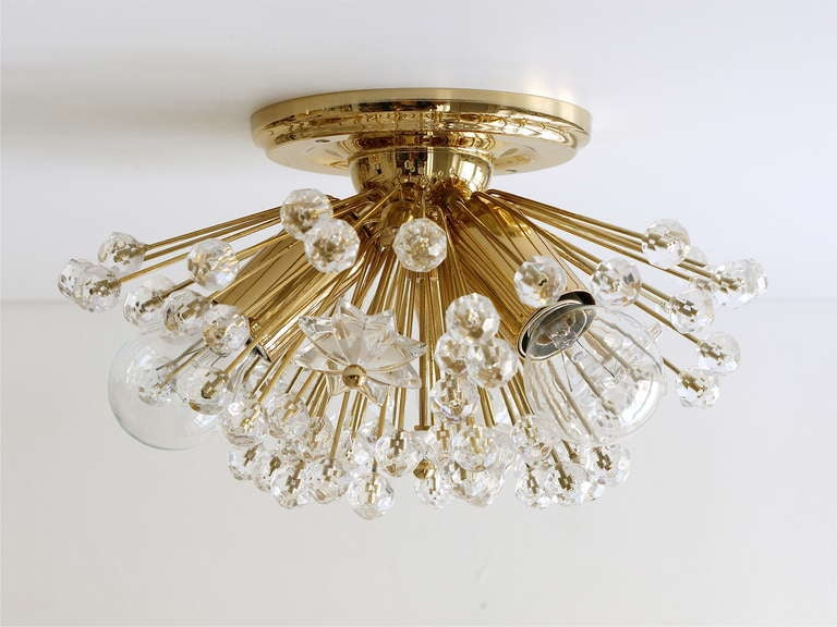 gold flush mount light large set of emil stejnar vienna goldplated snowball sputnik wall lights or flush
