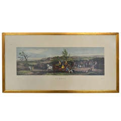 Set of 19th Century Framed Chromolithographs of the Four Seasons