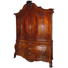Mahogany Cabinet-on-Chest, Dutch, circa 1770