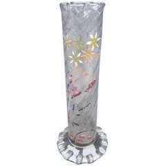 Emile Gallé Nancy Enameled Vase