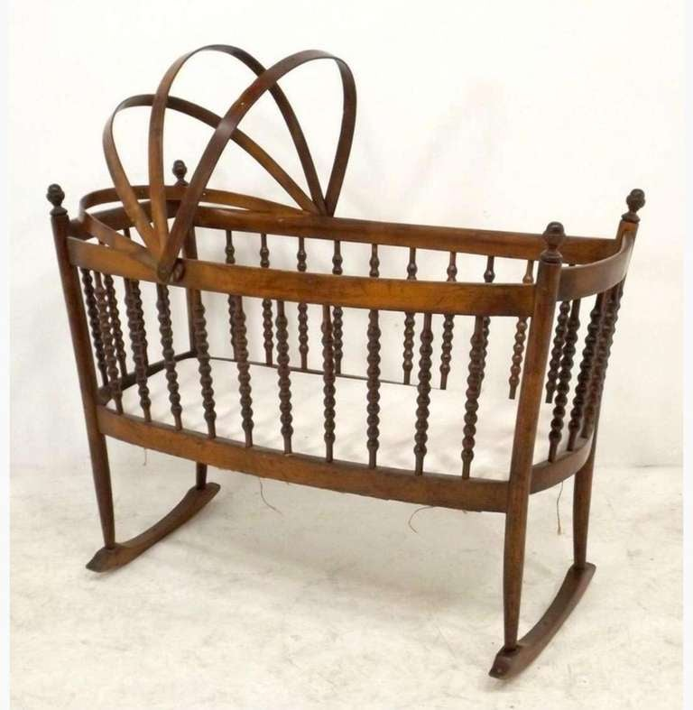 A Dutch Wooden Rocking Cradle At 1stdibs