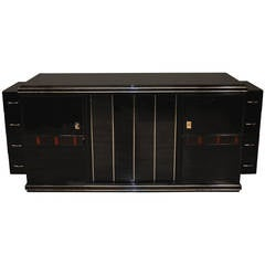 Large Art Deco Sideboard with Macassar Trim