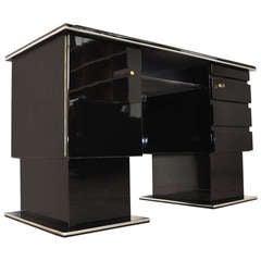 Original Bauhaus Desk with Lacobell Glass Top
