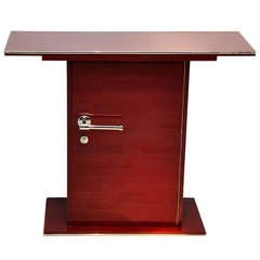 Small Art Deco Style Console with a Fire Red Finish