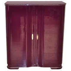 "Art Deco Bar Cabinet ""La Vie en Mauve"" by Margarethe Schreinemakers"