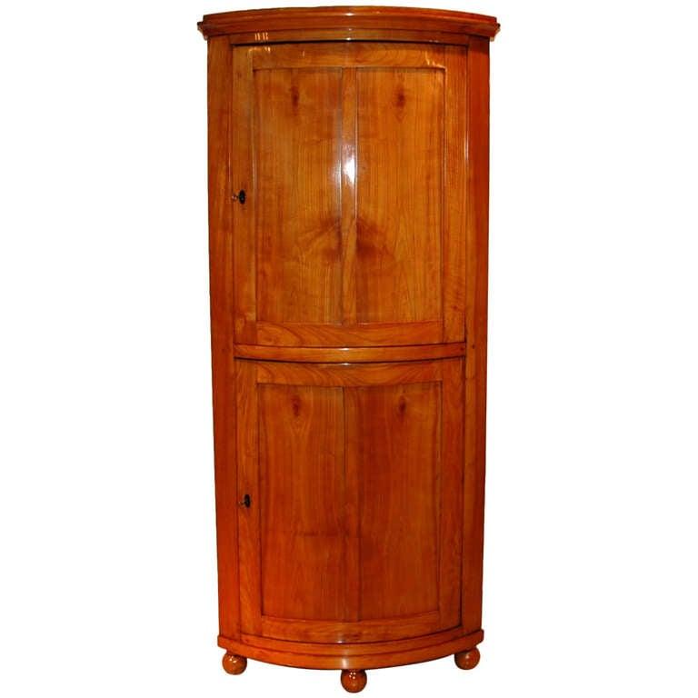 Cherry Wood Mahogany Storage Cabinets ~ Biedermeier corner cabinet made of cherry wood at stdibs