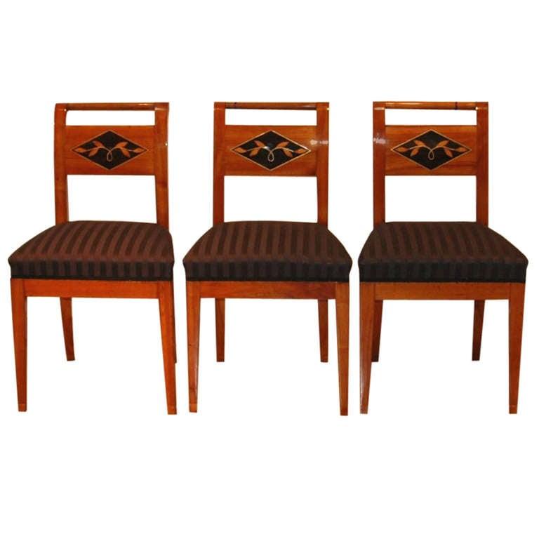 Unusual Early Biedermeier Chairs At 1stdibs
