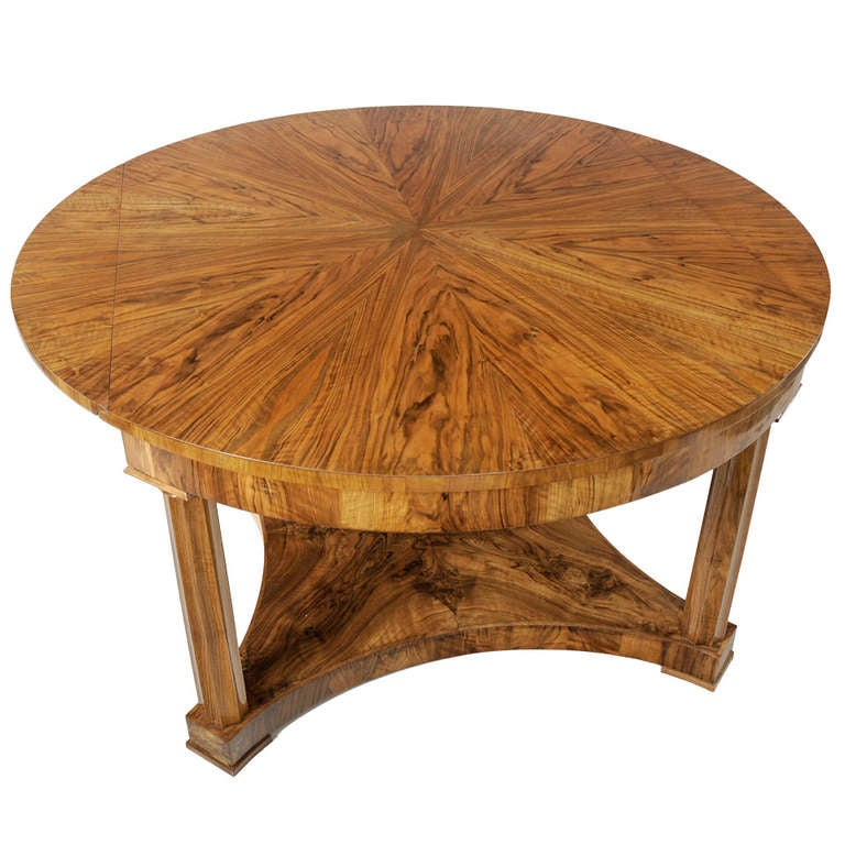 Beautiful large biedermeier coffee table in walnut at 1stdibs for Beautiful coffee tables