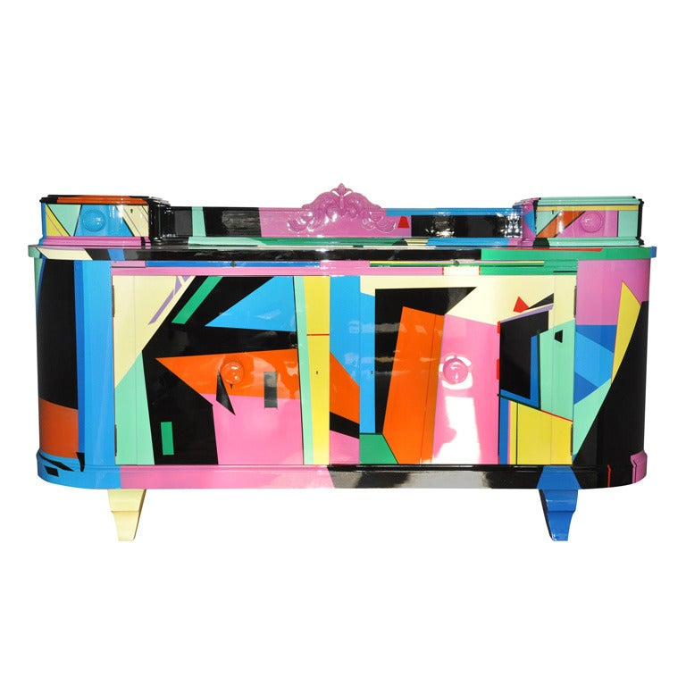 unique art deco sideboard joie de vie by margarethe schreinemakers for sale at 1stdibs. Black Bedroom Furniture Sets. Home Design Ideas