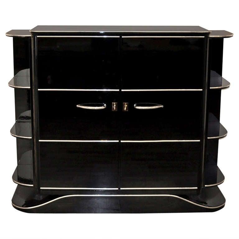 Art Deco Dry Bar in High Gloss Black