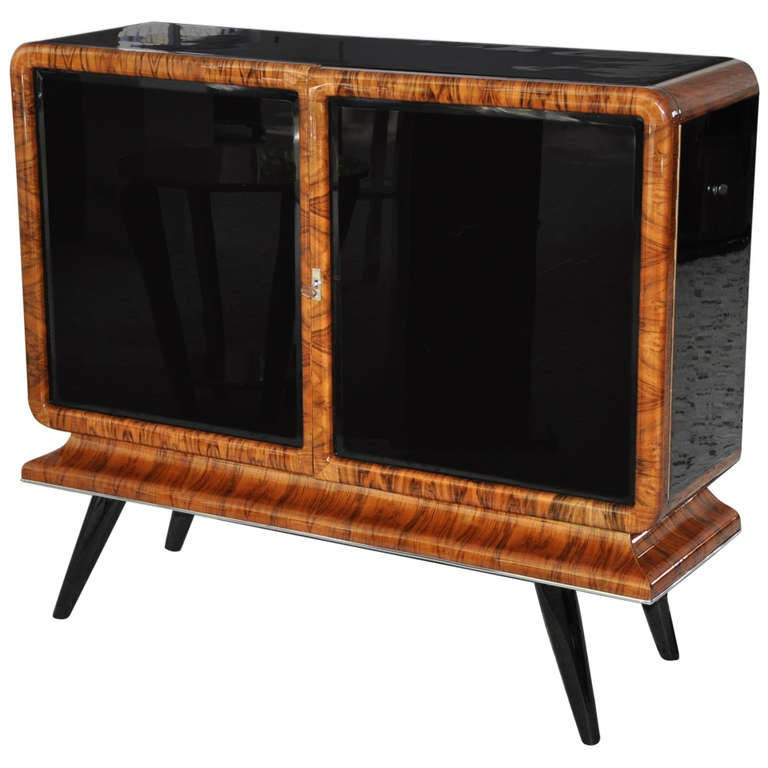 French art deco tv dresser walnut 1930 at 1stdibs - Deco tv ...
