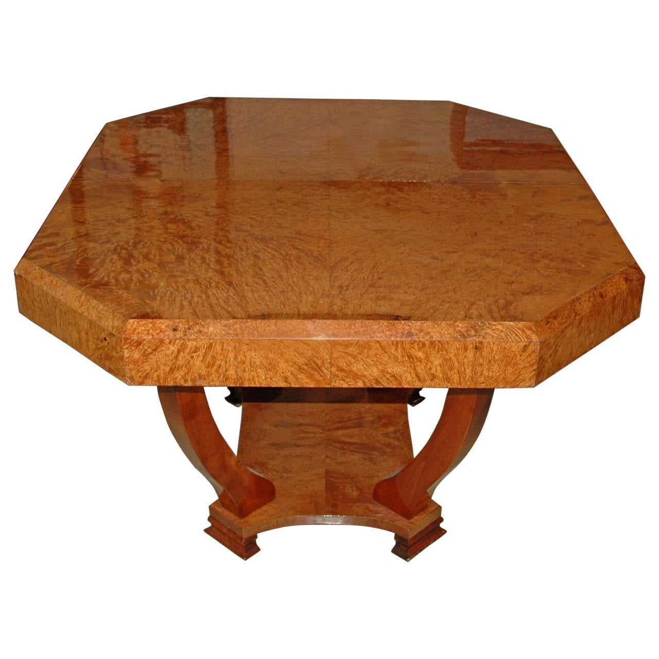 amboyna art deco table from france for sale at 1stdibs. Black Bedroom Furniture Sets. Home Design Ideas