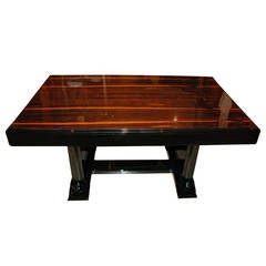 Art Deco Dining Table with Palisander Table Top
