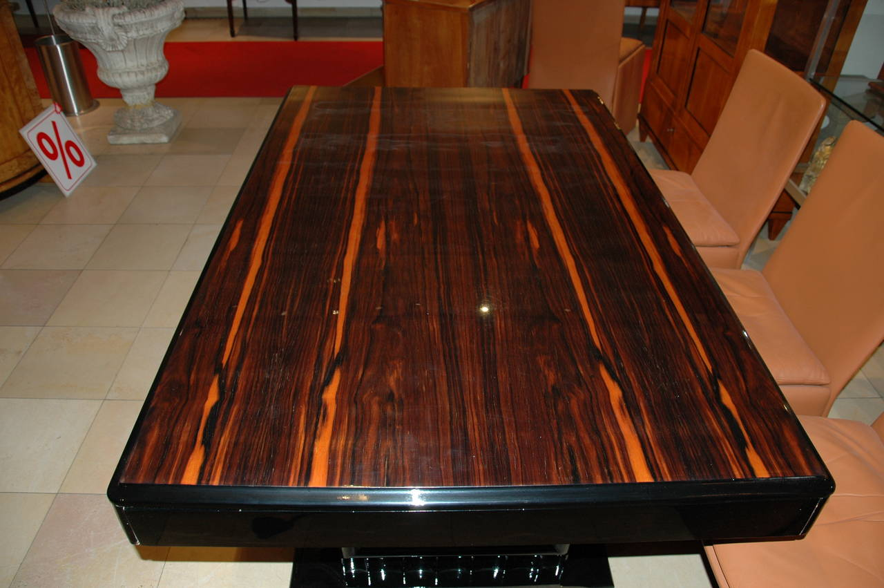 Art Deco Dining Table With Palisander Table Top At 1stdibs