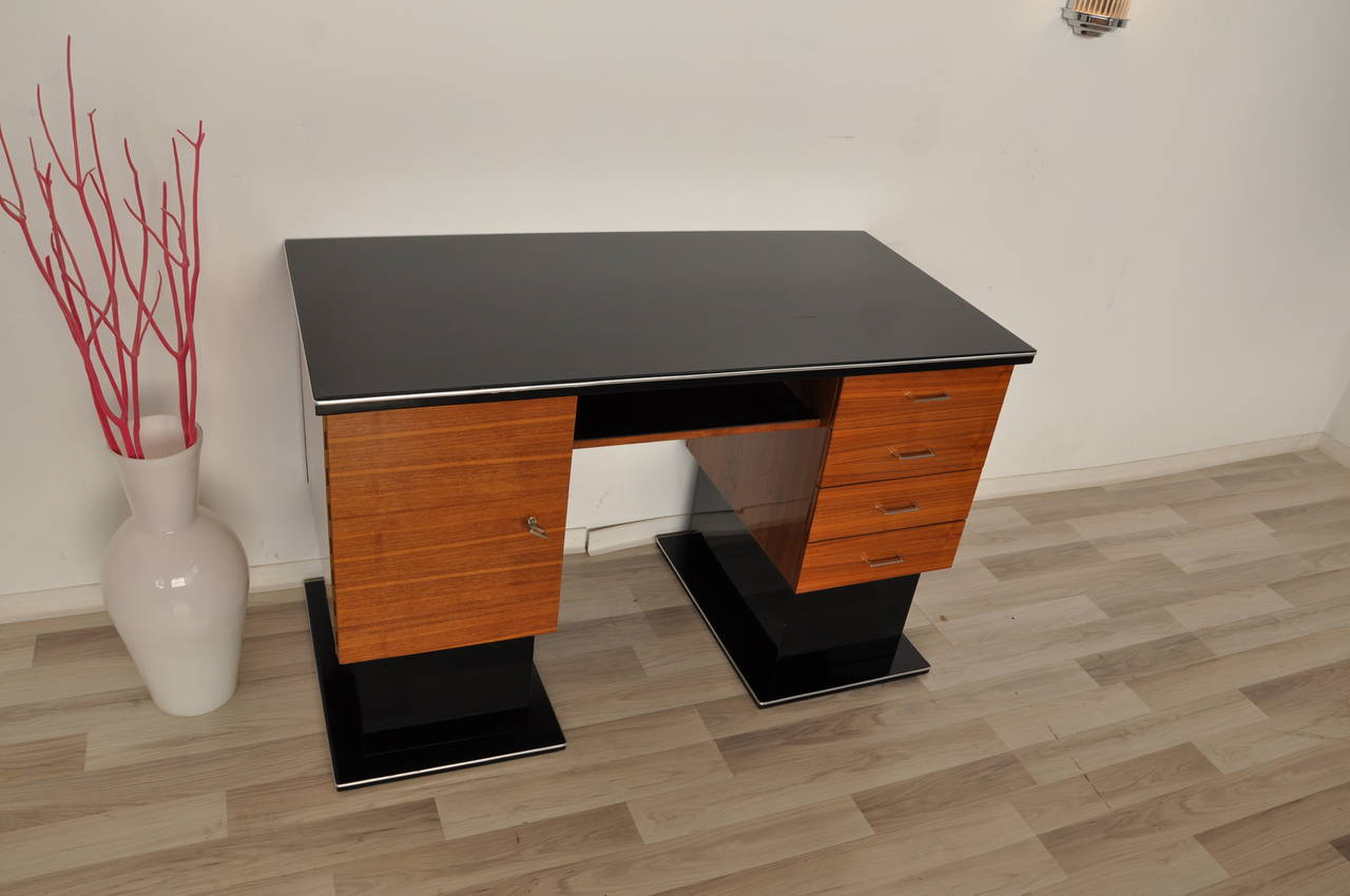 bauhaus desk with beautiful cherry wood for sale at 1stdibs