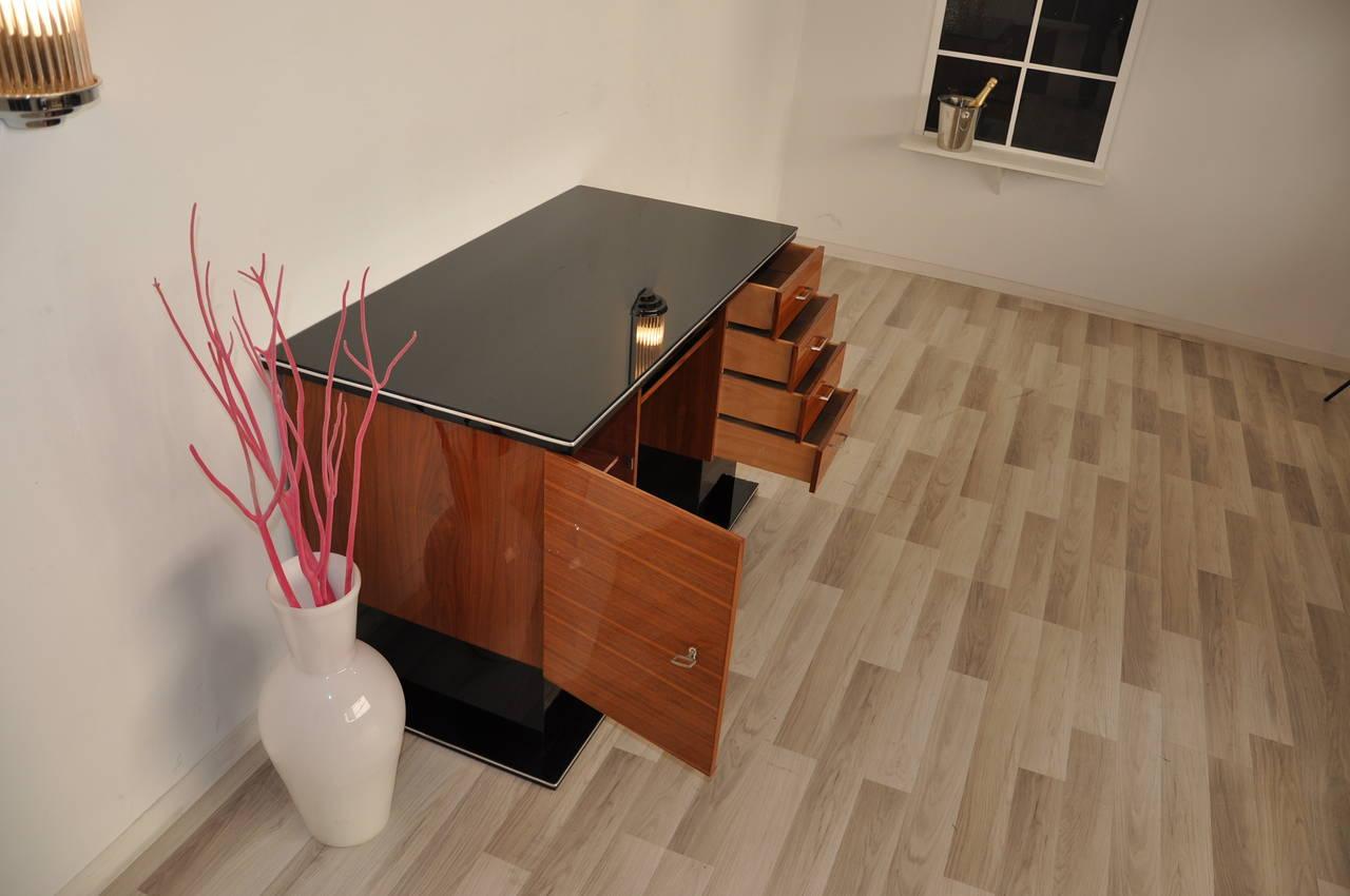 Beautiful Bauhaus style desk with a bi color