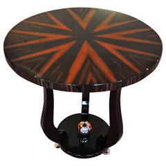 Art Deco Macassar Table from Marseille
