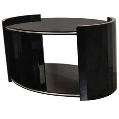 Oval Art Deco Side Table