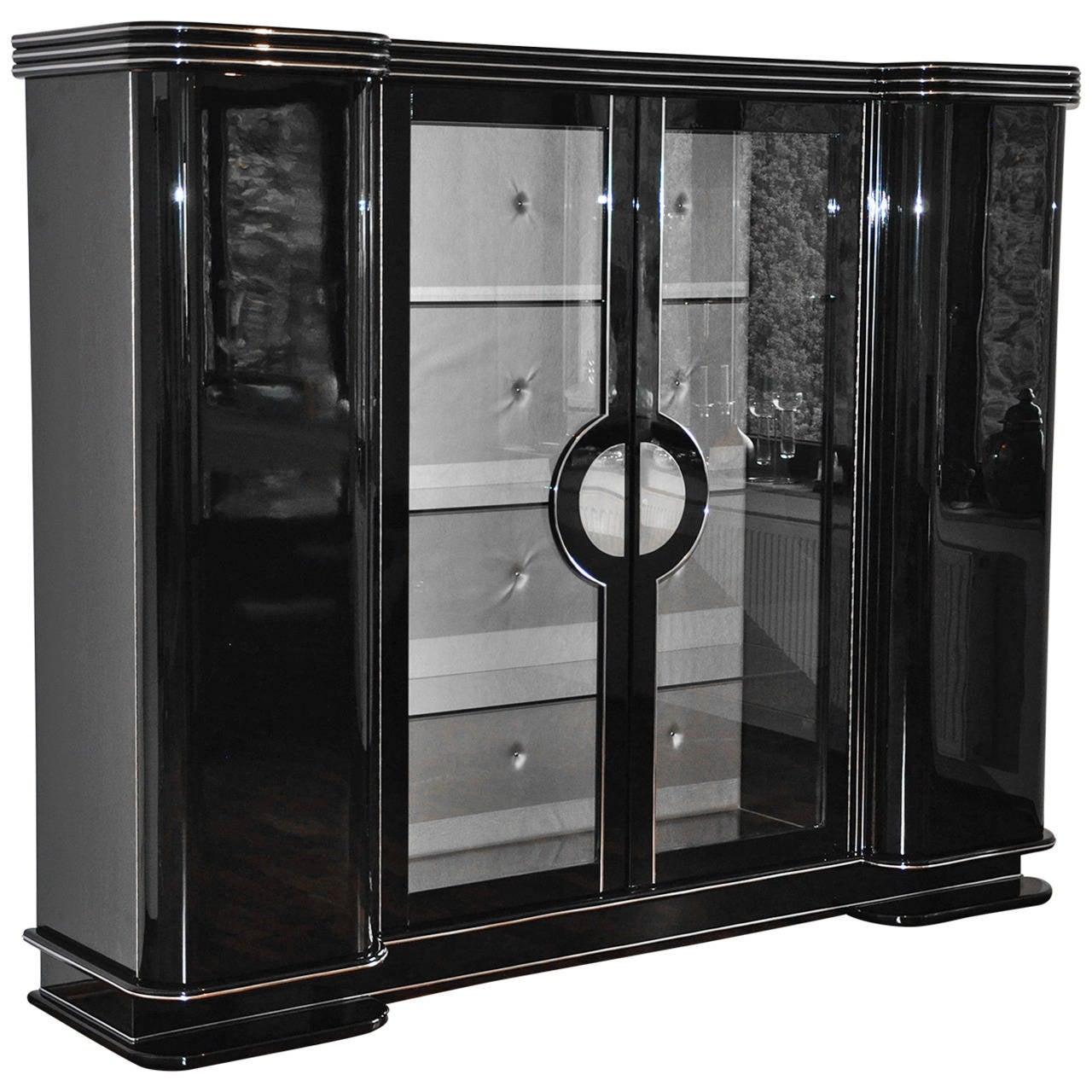 art deco cabinet paris at 1stdibs. Black Bedroom Furniture Sets. Home Design Ideas