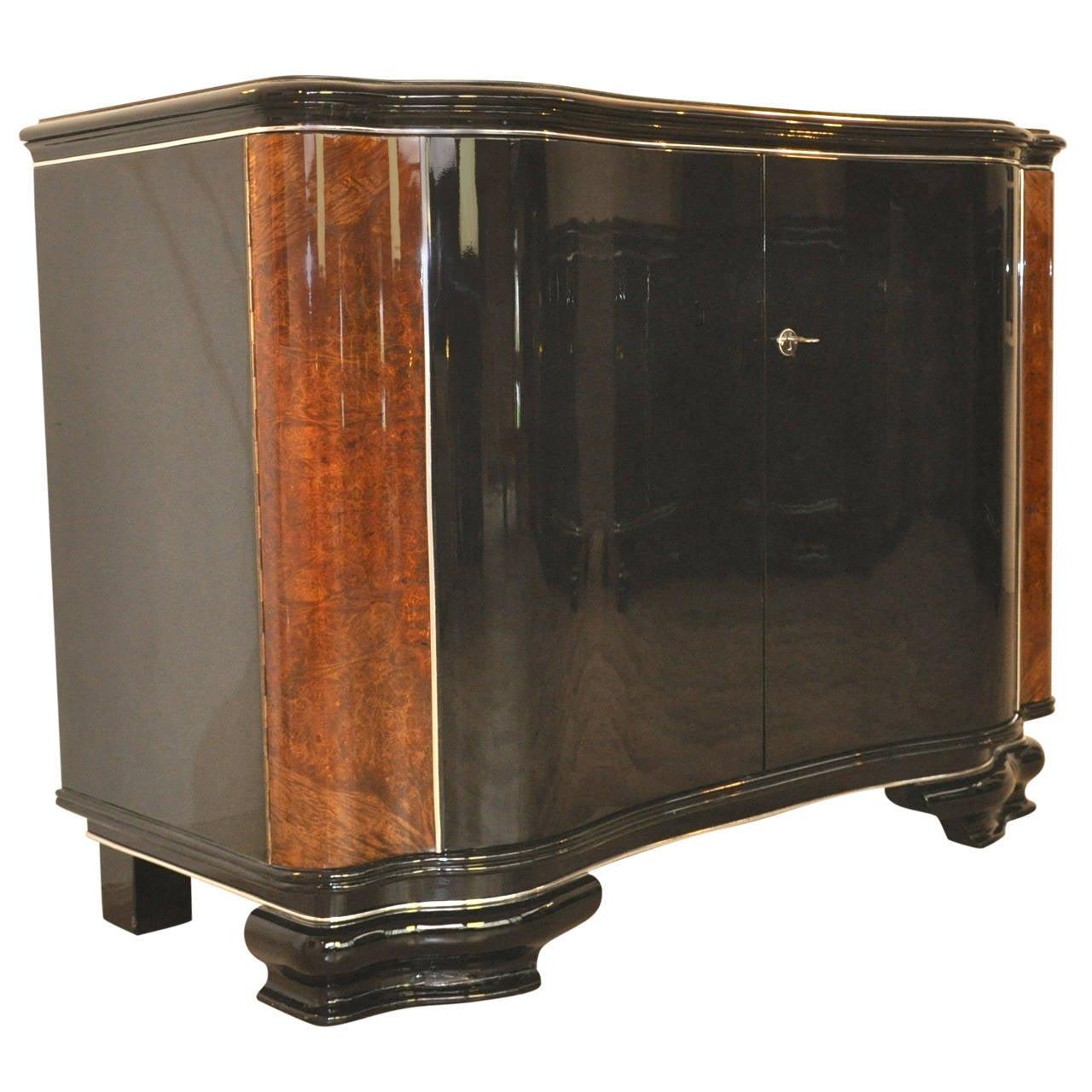 extravagant and elegant art deco commode at 1stdibs. Black Bedroom Furniture Sets. Home Design Ideas