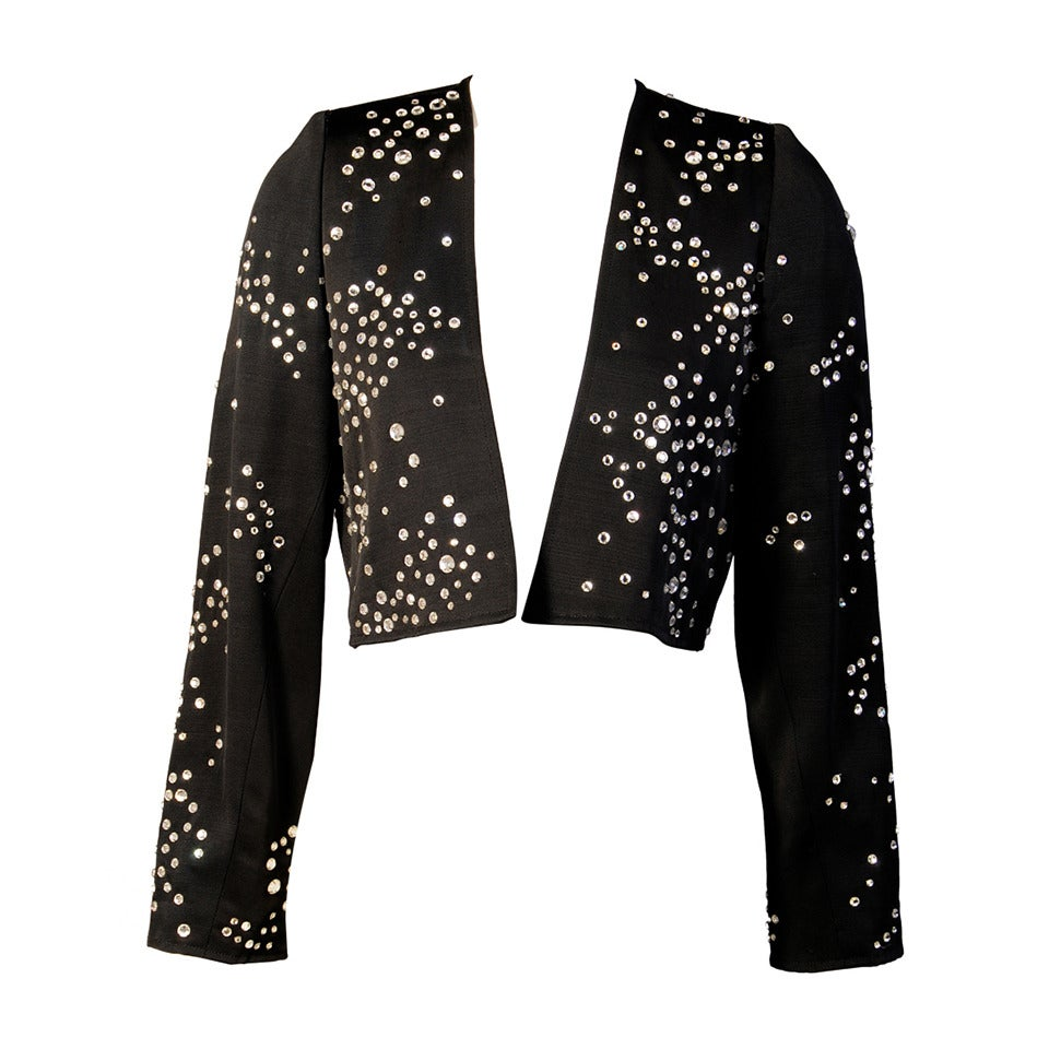 Yves Saint Laurent Diamante Evening Jacket For Sale at 1stdibs
