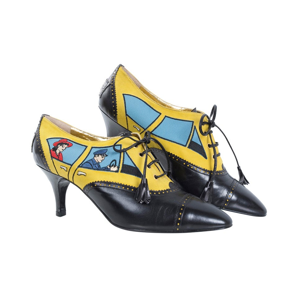 80's Moschino Car&Driver Shoe - unworn For Sale