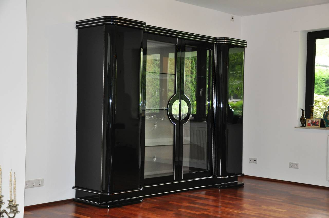 1920s art deco armoire cabinet from paris for sale at 1stdibs. Black Bedroom Furniture Sets. Home Design Ideas