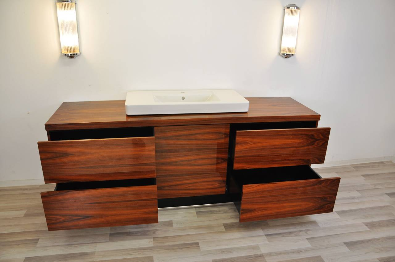 Extra Large Art Deco Bathroom Furniture Made Of Jacaranda For Sale At 1stdibs