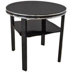 Black Art Deco Side Table