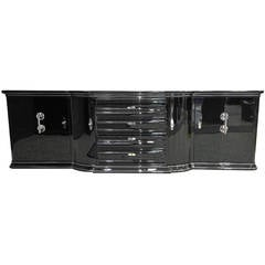 Extra Large Art Deco Sideboard in High Gloss Black
