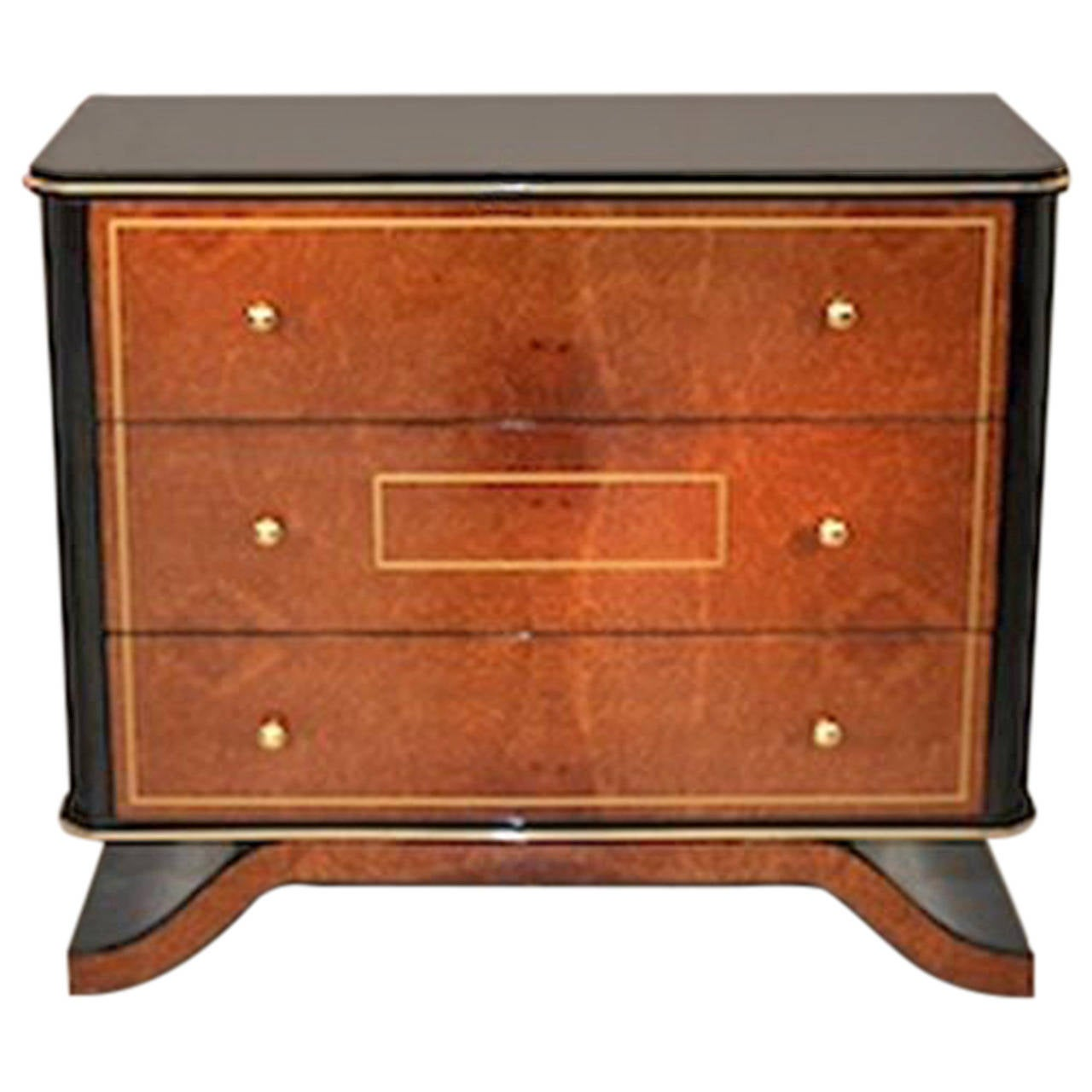 amboyna art deco dresser for sale at 1stdibs. Black Bedroom Furniture Sets. Home Design Ideas
