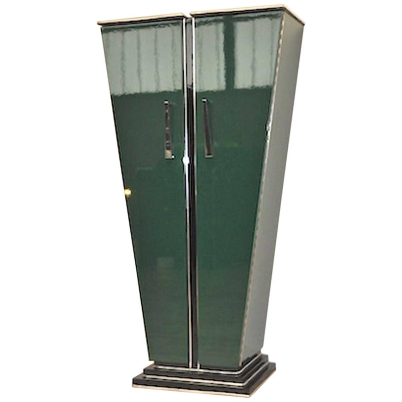 large art deco console elien chopardt green edition for. Black Bedroom Furniture Sets. Home Design Ideas