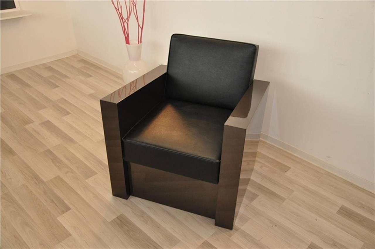 Art Deco Stil Sessel in dunklem Silber 7