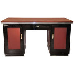 Vintage Art Deco Desk from a Mansion in Lyon
